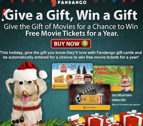 Fandango Gift Card Promo - fandango free movie tickets for a year gift card promo more