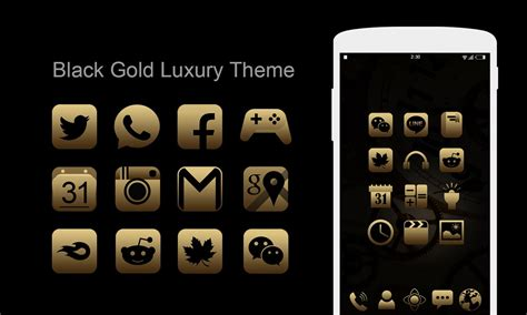 apk gold blackgold theme icon pack hd 2 0 apk android personalization apps