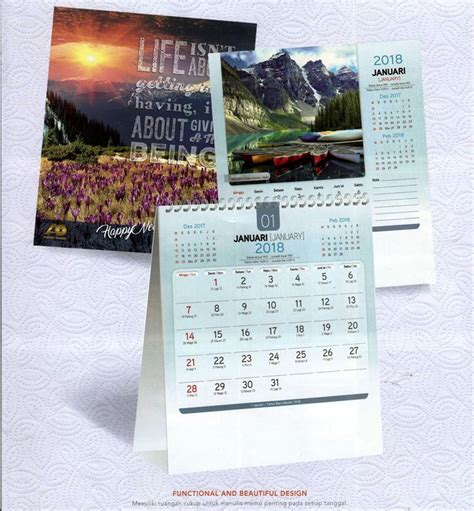 Kalender Meja 13 Halaman kalender meja 2018 pemandangan alam dunia ao 8801