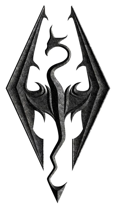 tattoo dragon logo skyrim dragon symbol google search skyrim pinterest