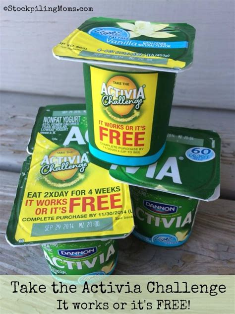 activa challenge take the activia challenge giveaway closed