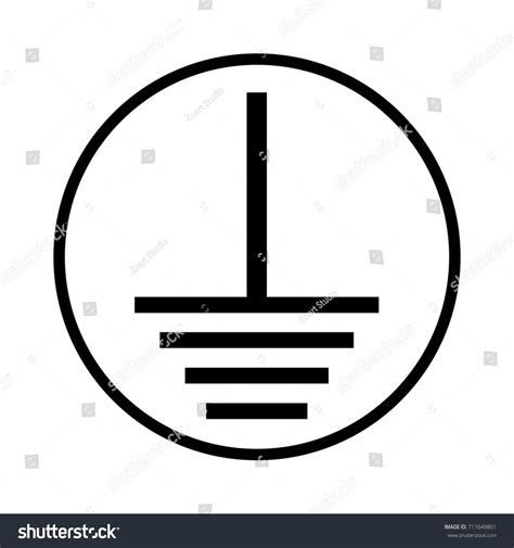 cool symbol for ground in electricity contemporary