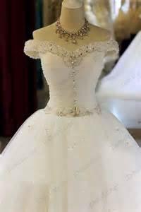 jw16208 sparkles off shoulder lace tulle princess wedding dress