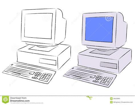 sketchbook computer desktop computer stock vector image 39520860