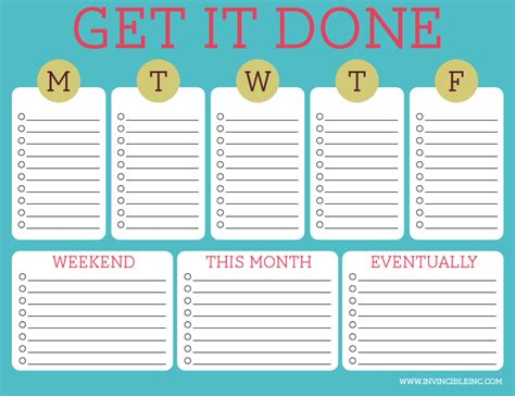 weak list can a daily weekly monthly to do list help you get more