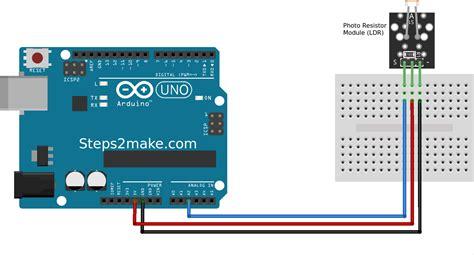 code arduino ldr arduino photo resistor module ldr ky 018 steps2make