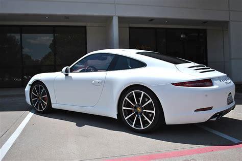 Porsche 911 White Matte Color Change Wrap Car Wrap City