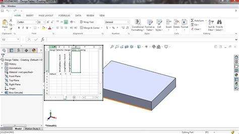how to a design table in solidworks creating design tables in solidworks 2016