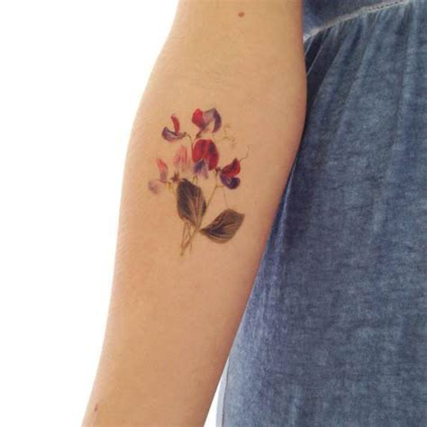 sweet pea flower tattoo designs sweet pea for rib cage elements