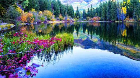 gambar pemandangan alam danau  gambar