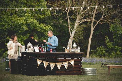 Backyard Wedding Bar Pallet Bar Wedding Ideas
