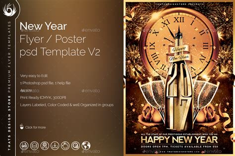 new year flyer template new year flyer template v2 by lou606 graphicriver