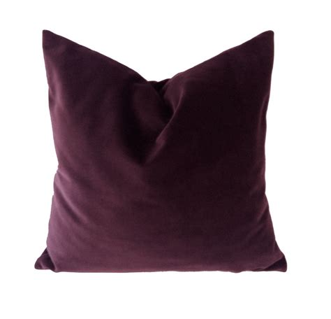 Wine Colored Throw Pillows by Aubergine Wine Cotton Velvet Pillow Cover Decorative Accent