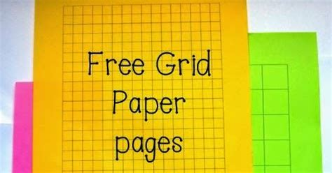 nylas crafty teaching  grid paper pages
