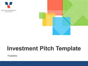 investor pitch powerpoint template