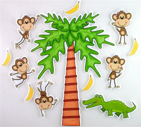 5 little monkeys swinging on a tree five little monkeys swinging from a tree felt bymaree