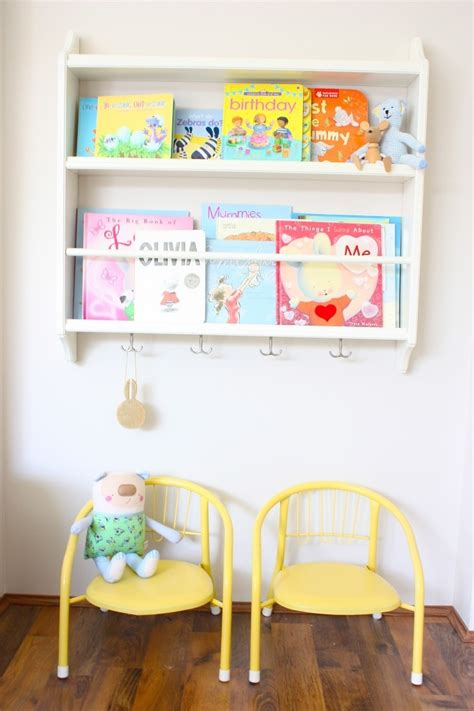 ikea plate rack repurposed as book shelf for the