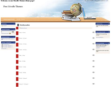 theme moodle education free moodle themes learning horizon by themza
