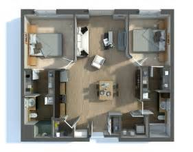 Floor Plan Of 2 Bedroom Flat 2 bedroom apartment house plans