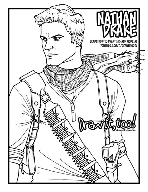 Uncharted 4 Coloring Pages by Uncharted 4 Coloring Pages 28 Images Free Coloring