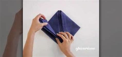 How To Fold Paper Napkins Into Shapes - how to fold a napkin into an orchid 171 table preparation