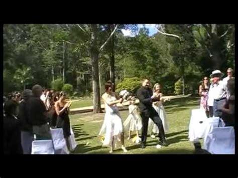 Phil   Elina  Funniest Wedding Dance Entrance  Best Ever