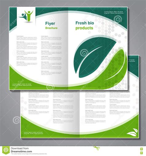 helping nature brochure template design and layout natural brochure design of nature bio flyer with simple