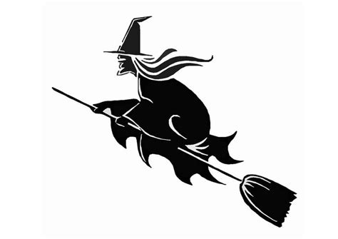imagenes de brujas volando halloween dibujo para colorear bruja en escoba img 8583