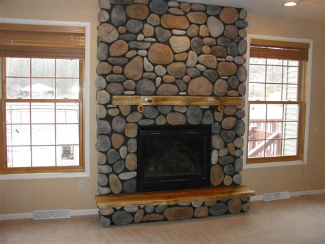 rock fireplace 30 perfect stone fireplace pictures creativefan