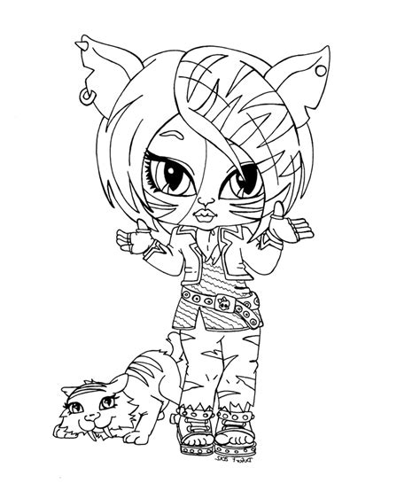 monster high coloring pictures for girls free cartoon