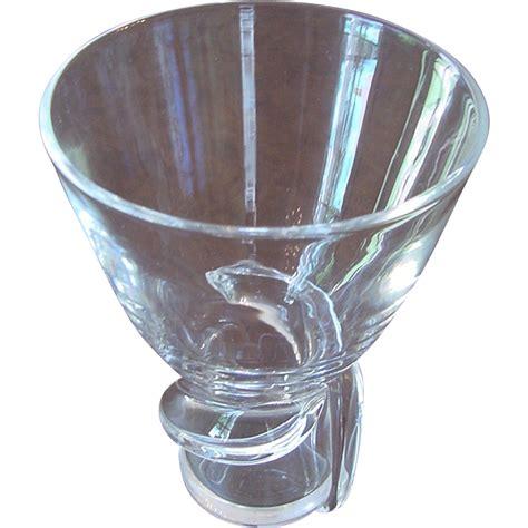 Steuben Glass Vase Vintage by Beautiful Vintage Signed Steuben Vase
