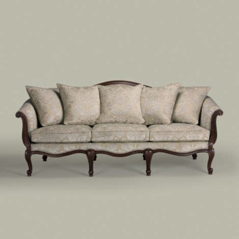 ethan allen wood frame sofa and products on