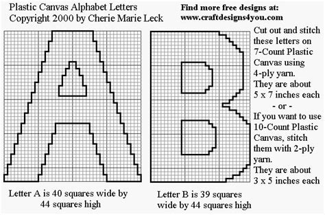 free patterns in plastic canvas to print free plastic canvas print outs upper case letters of the