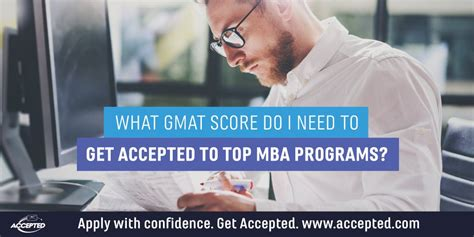 What You Need To Enter A Mba Program by What Gmat Score Do I Need To Get Accepted Accepted