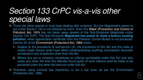 crpc section 41 crpc 133 environment law