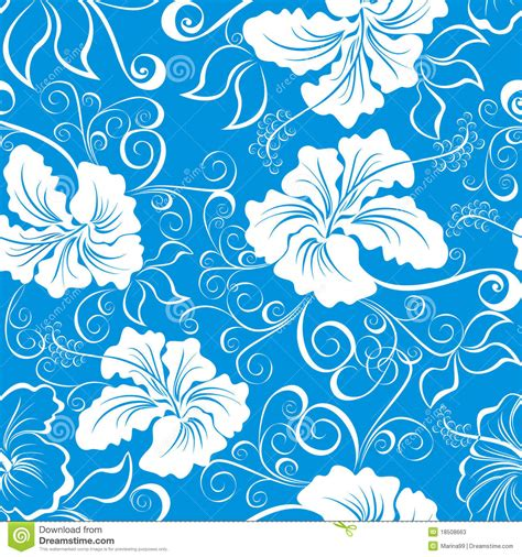 hawaii pattern free seamless hawaiian floral pattern vector stock vector