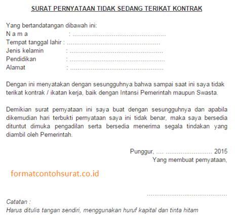 contoh surat pernyataan resmi yang benar persuratan