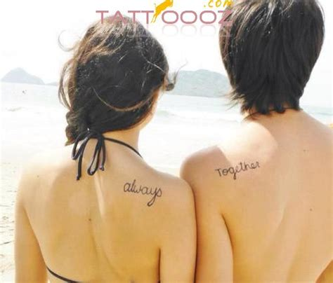 cute small couple tattoos would be better with forever and always