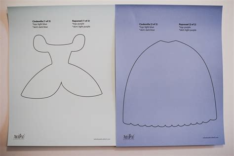 16 best images about templates on pinterest disney 8 5 x 11 inch paper dress template for cinderella from