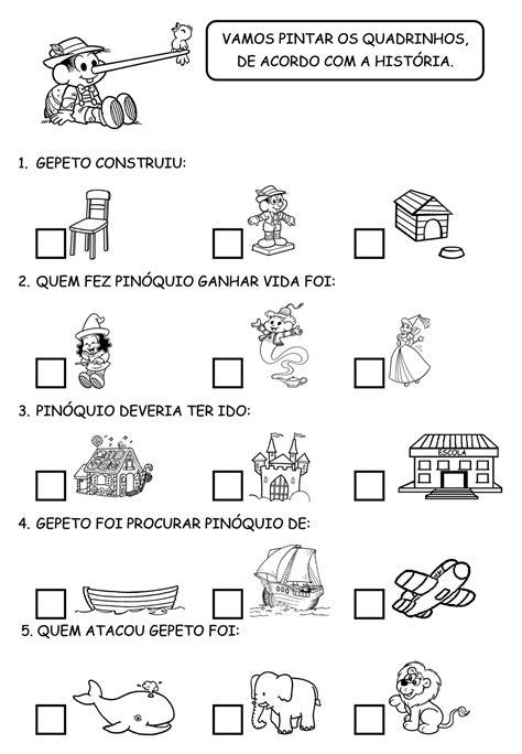 Turma da Monica para atividades: Pinoquio