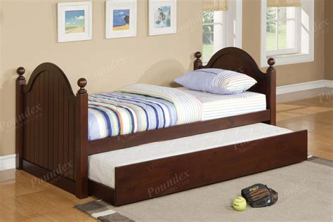 Twin Bed W Trundle Day Bed Bedroom Furniture Showroom Categories Poundex