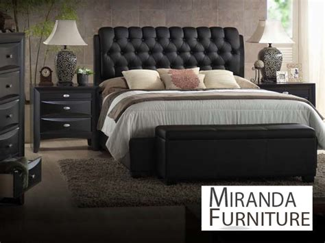 ireland black pu eastern king bedroom set
