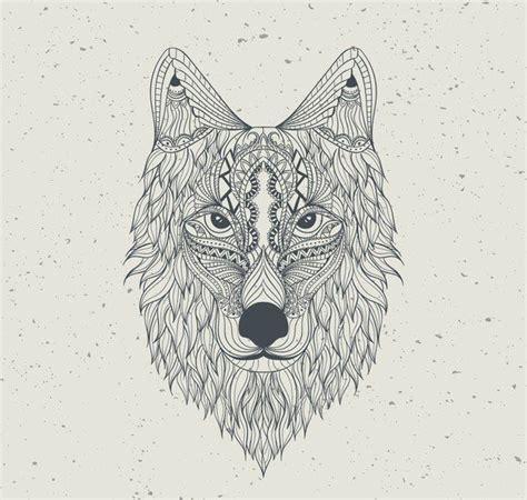 pattern drawing wolf aztec background draw hand hd pattern wallpaper