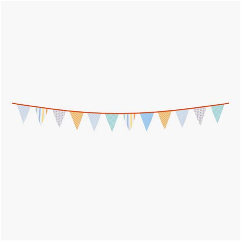 Sale Bunting Flag Hbd Colorful triangle flag banner 2 3d model