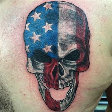 florida flag tattoo patriotic skull revfish fishinktattoos wholeaddiction