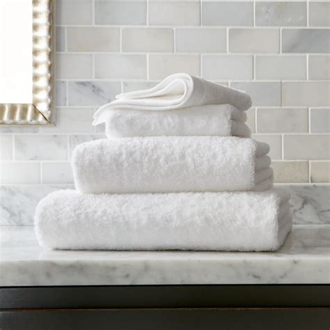Egyptian Cotton White Bath Towels   Crate and Barrel