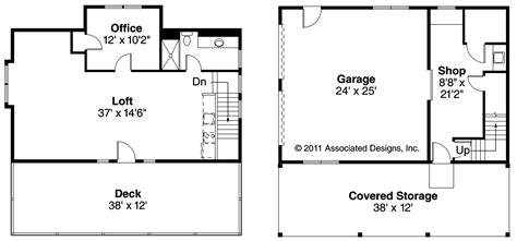 elwood cool garage floor plans with loft