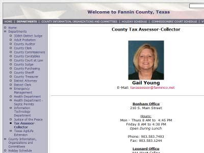 Fannin County Property Records Colorado County Tax Office