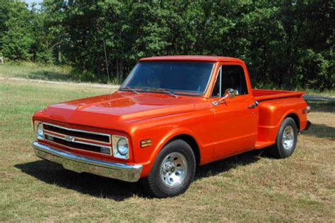 Chevy Short Bed For Sale 1968 Chevy C10 Stepside Candy Metallic Orange Sbc 350