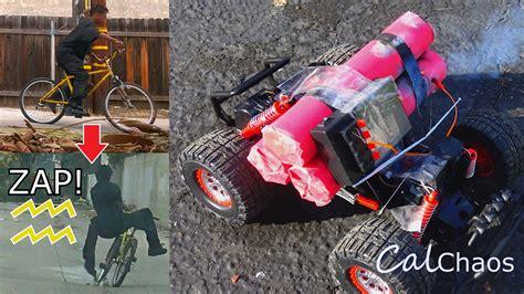 bike seat shock prank stun gun bike seat rc car bawmb prank in the bike
